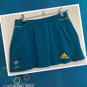 Womens Adidas skort with London 2012 Olympic Logo Skirt with shorts underneath